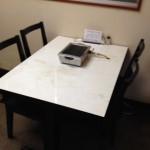 テーブル席4名
